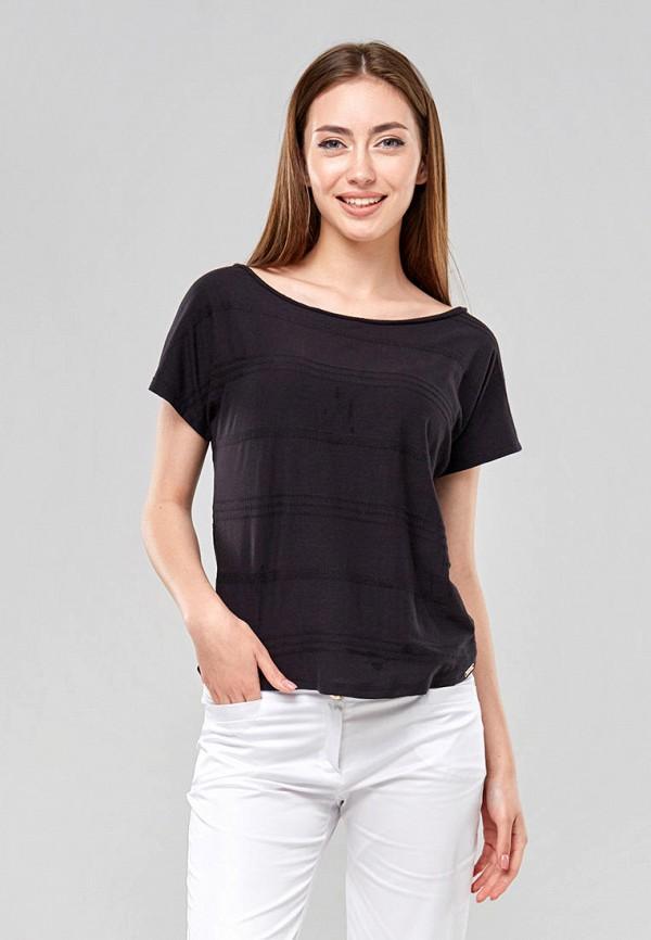 женская футболка ora, черная