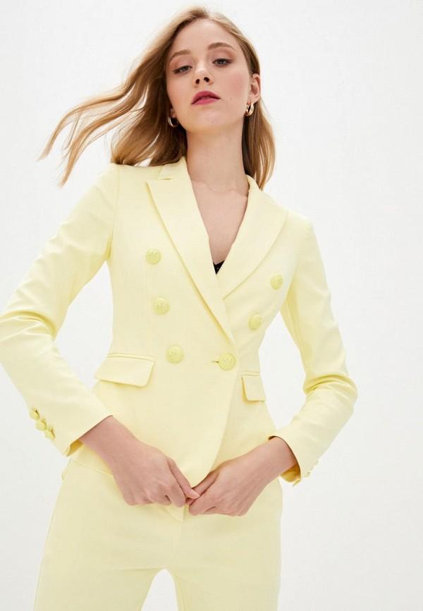 женский пиджак pinko, желтый