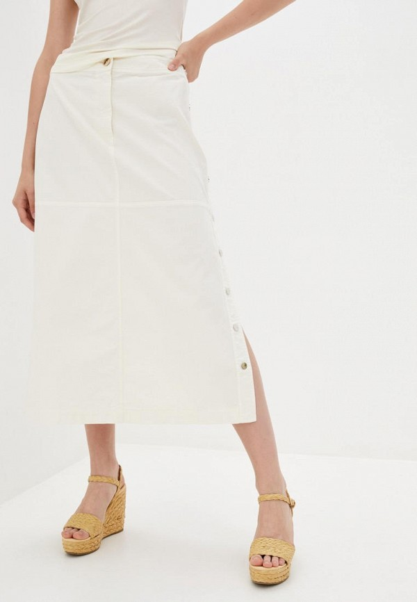 женская джинсовые юбка pinko, белая