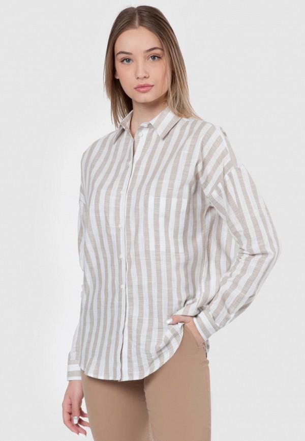 женская рубашка с длинным рукавом arber, бежевая