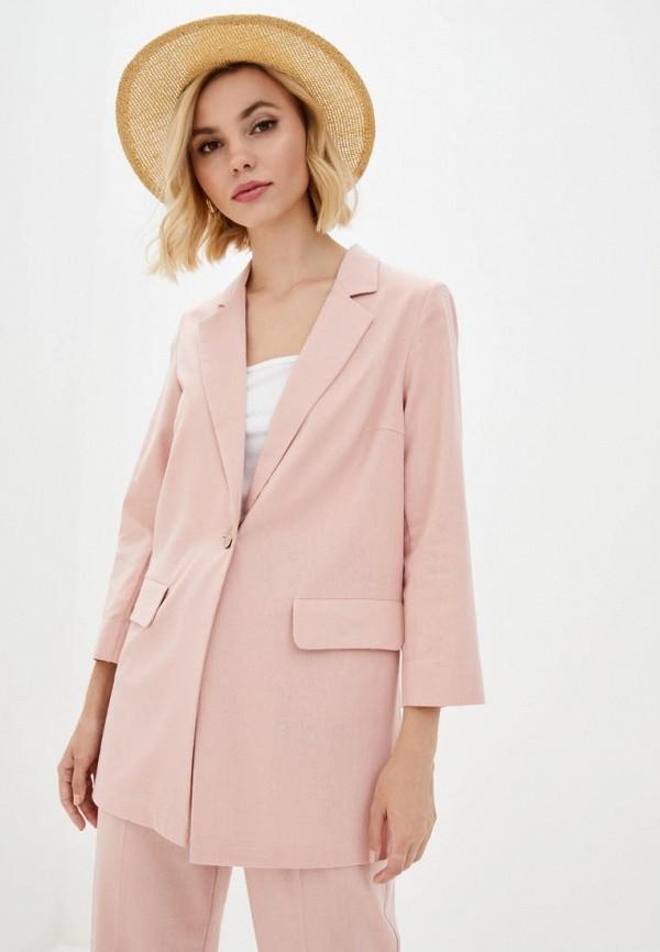 женский пиджак zubrytskaya, розовый
