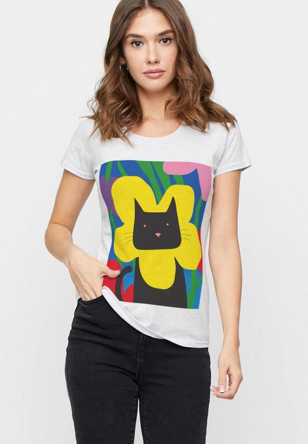 женская футболка yappi, серая