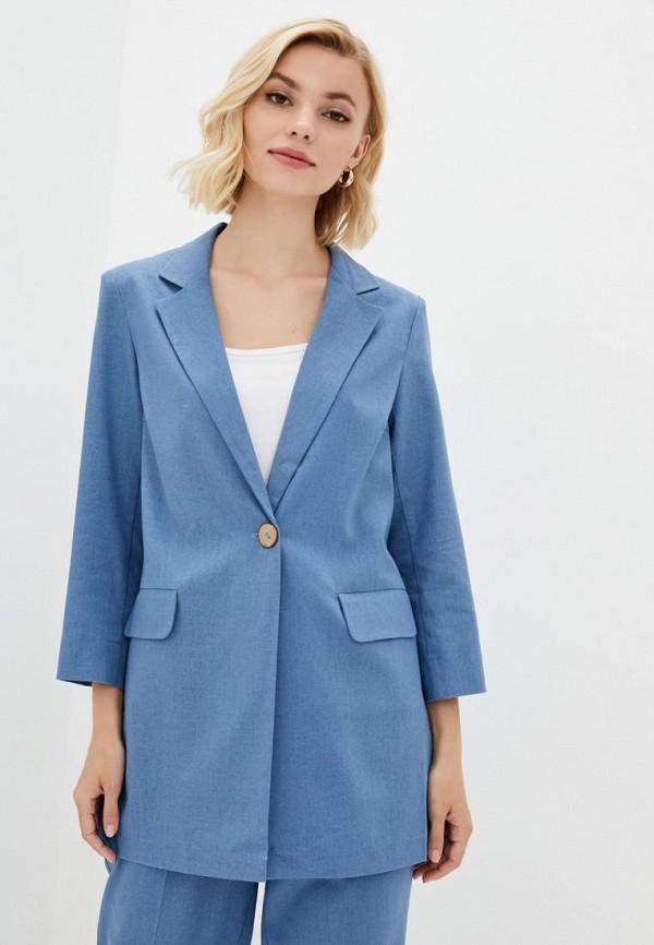 женский пиджак zubrytskaya, голубой