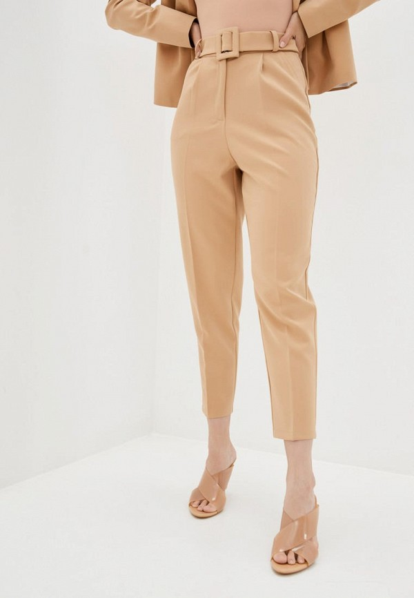 женские зауженные брюки zubrytskaya, бежевые