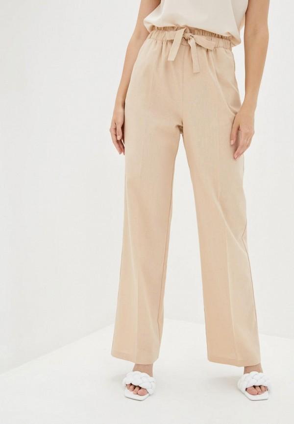 женские прямые брюки zubrytskaya, бежевые