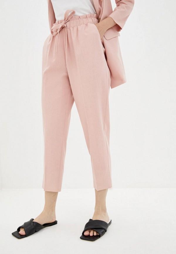 женские зауженные брюки zubrytskaya, розовые