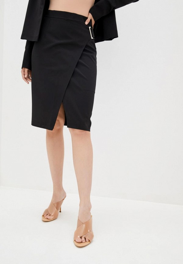 женская зауженные юбка zubrytskaya, черная