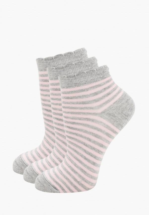 Носки 3 пары Pierre Cardin серого цвета