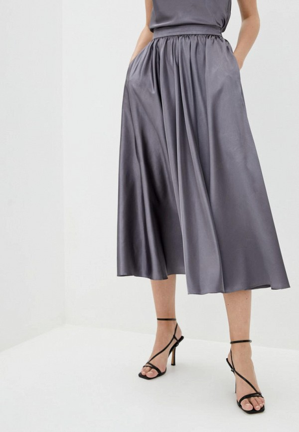 женская юбка pearl fashion group, серебряная