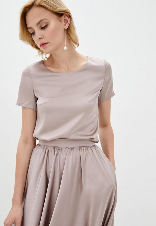 женская блузка pearl fashion group, бежевая