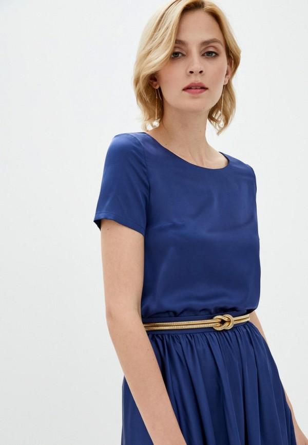 женская блузка pearl fashion group, синяя