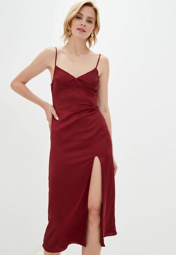 женское платье pearl fashion group, бордовое