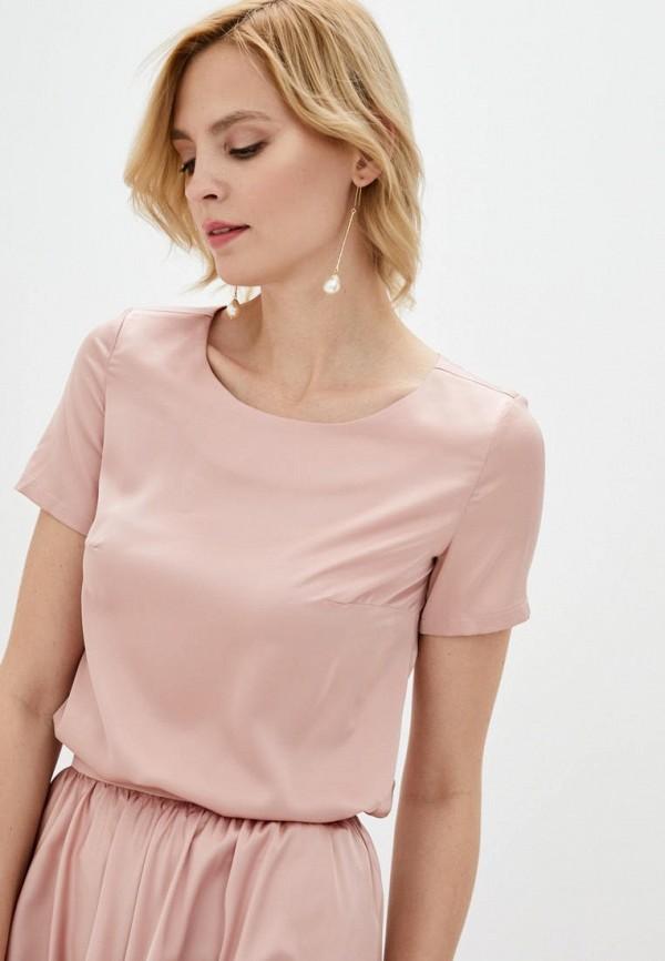 женская блузка pearl fashion group, розовая