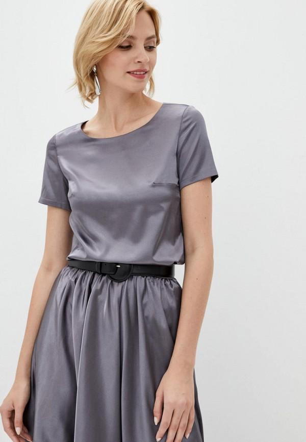 женская блузка pearl fashion group, серебряная