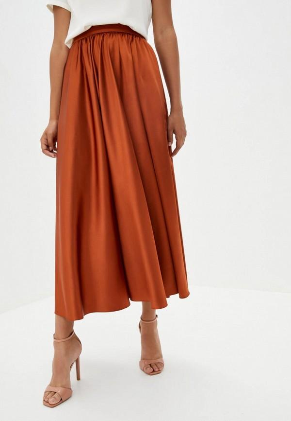 женская юбка pearl fashion group, оранжевая