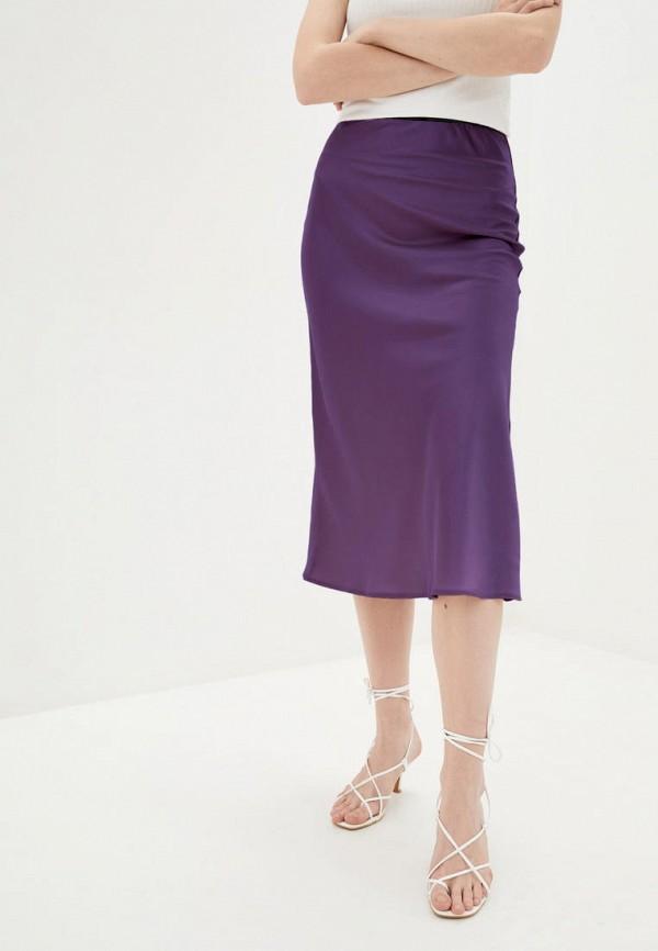 женская прямые юбка magnet, фиолетовая