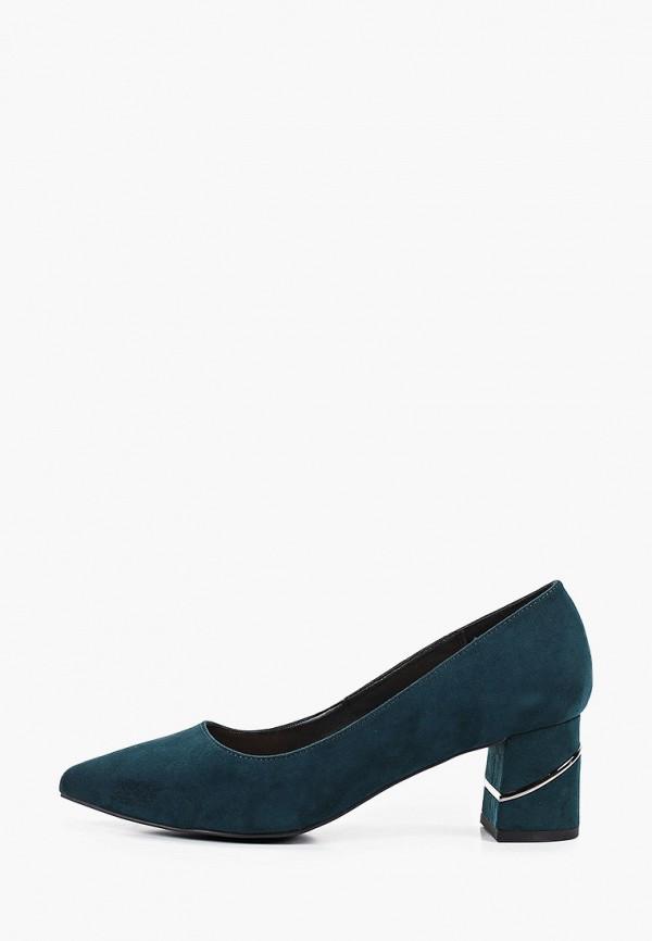 женские туфли с закрытым носом t.taccardi, зеленые