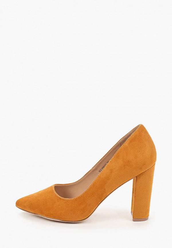 женские туфли с закрытым носом t.taccardi, желтые