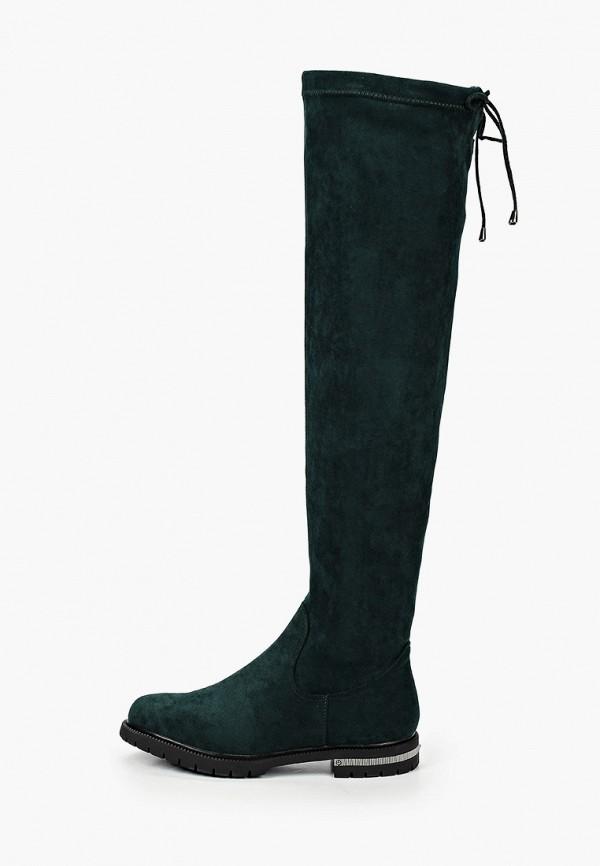 женские ботфорты t.taccardi, зеленые