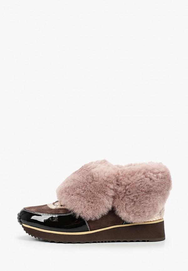женские низкие кроссовки just couture, коричневые
