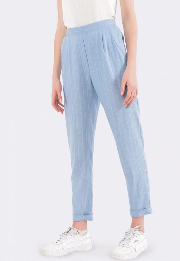 женские зауженные брюки cat orange, голубые