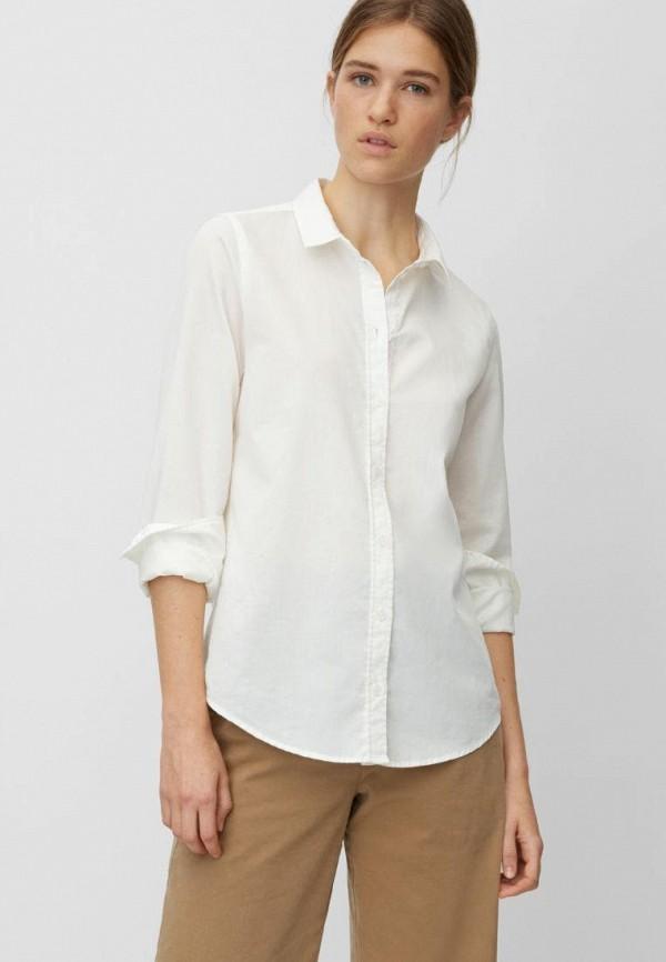 женская рубашка с длинным рукавом marc o'polo, белая