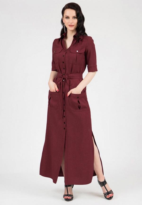 женское платье-рубашки grey cat, бордовое