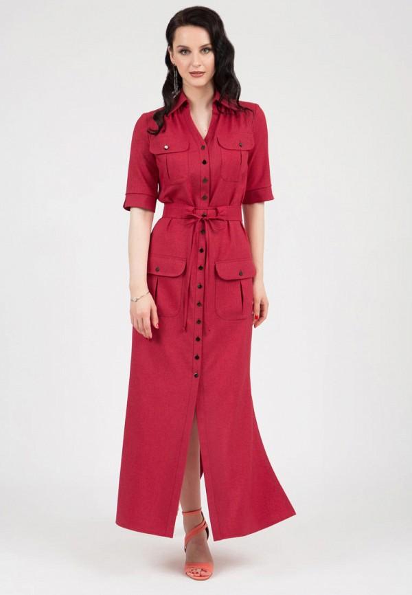 женское платье-рубашки grey cat, красное