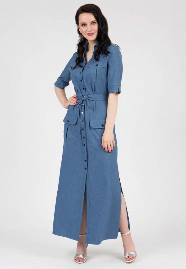 женское платье-рубашки grey cat, синее