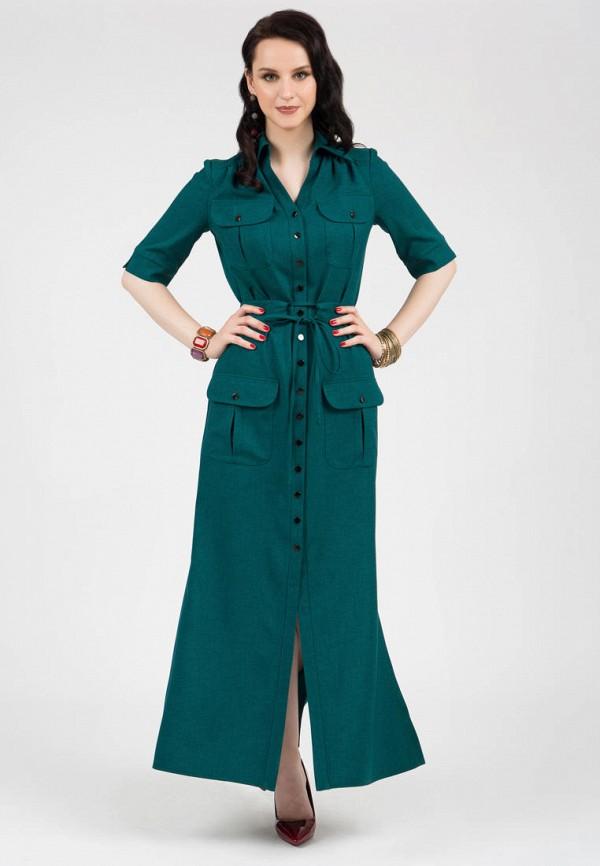 женское платье-рубашки grey cat, зеленое