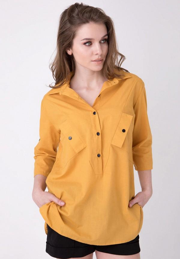 женская блузка ricamare, оранжевая