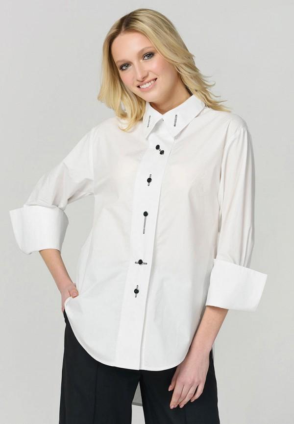 женская рубашка с длинным рукавом ricamare, белая