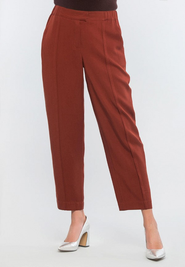 женские прямые брюки maxa, бордовые