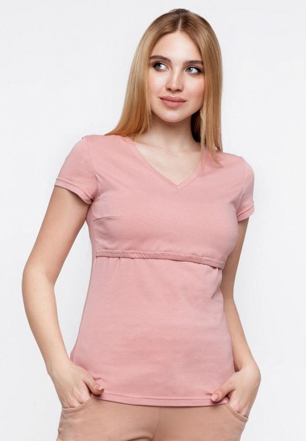 женская футболка юла мама, розовая