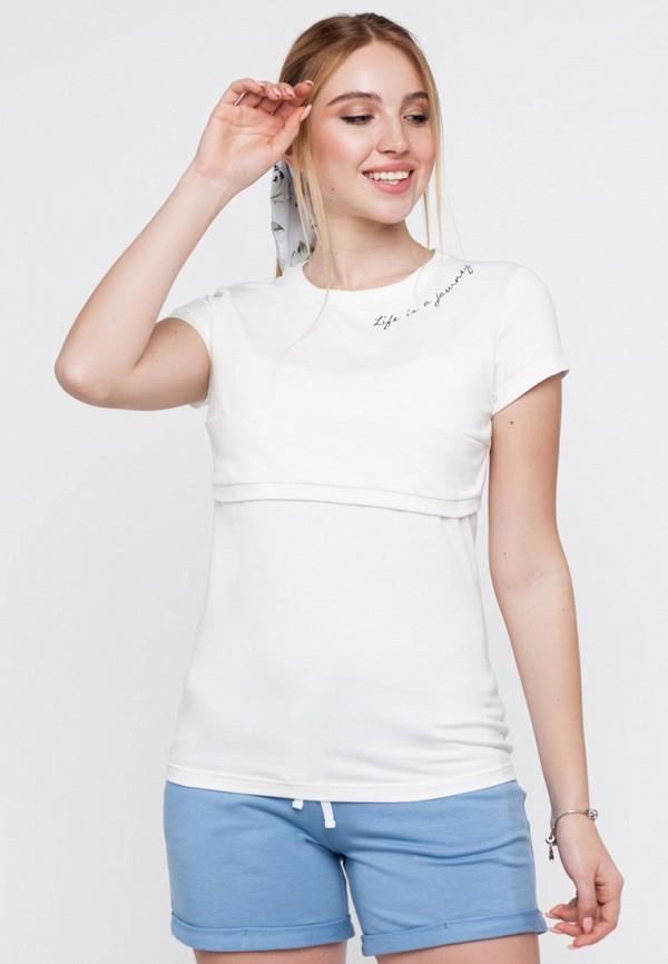 женская футболка юла мама, белая
