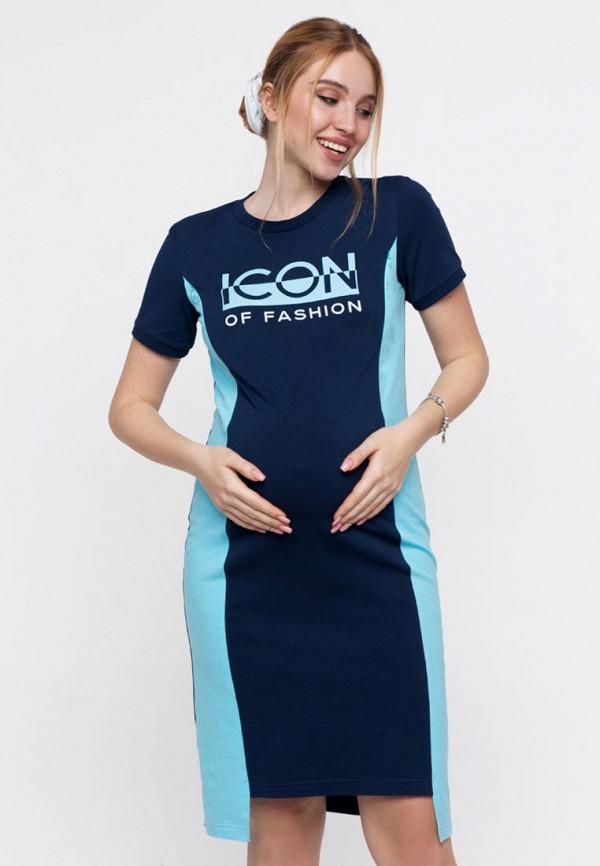 женское платье юла мама, синее