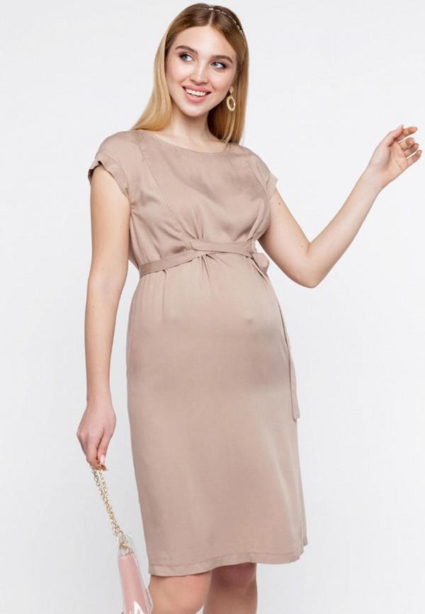 женское повседневные платье юла мама, бежевое