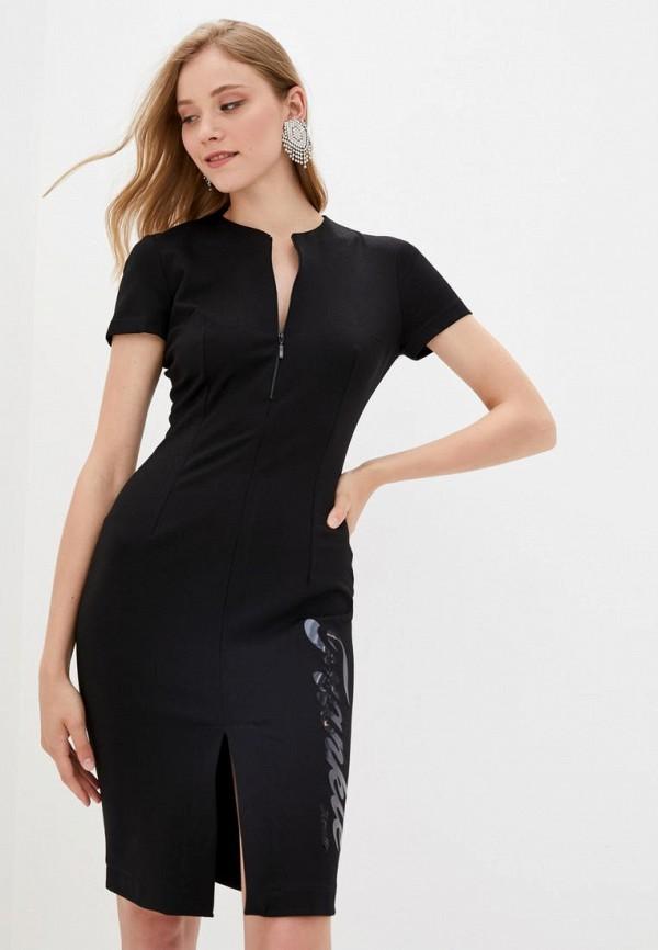 женское платье-футляр frankie morello, черное