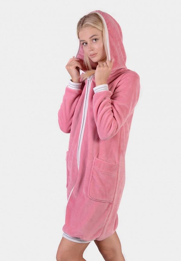 женский халат n.el, розовый