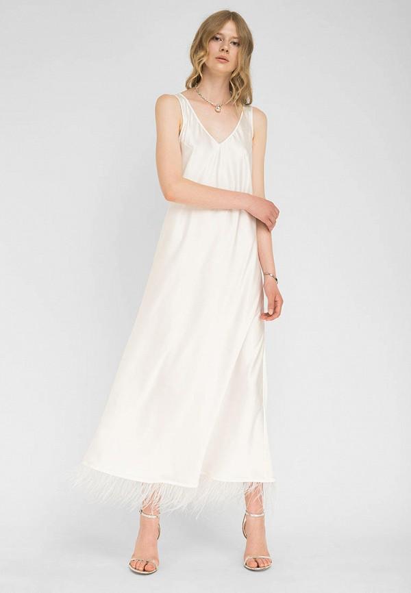 женское повседневные платье the hugs, белое