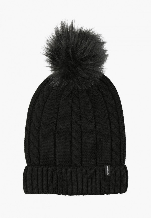 женская шапка everhill, черная