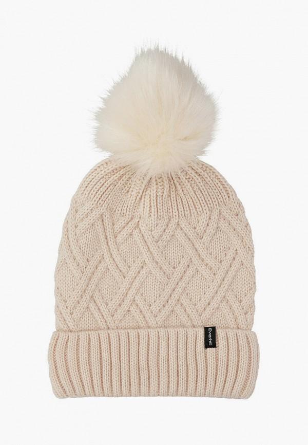 женская шапка everhill, бежевая