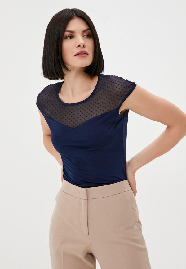 женская блузка с коротким рукавом wejali, синяя