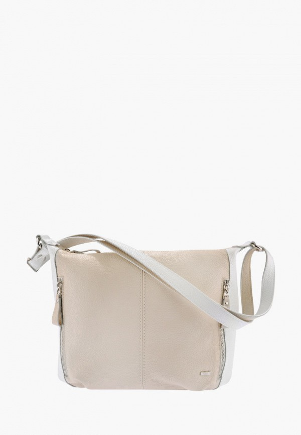 женская сумка через плечо esse, бежевая