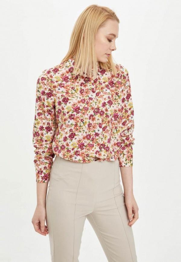 женская рубашка с длинным рукавом defacto, розовая