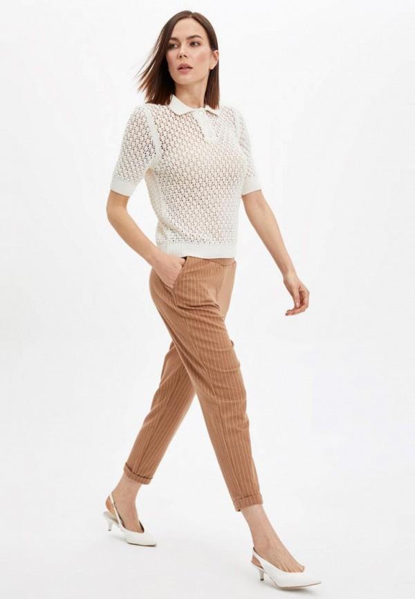 женские зауженные брюки defacto, бежевые