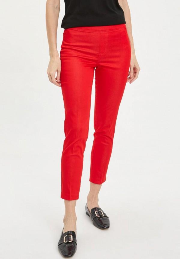 женские повседневные брюки defacto, красные