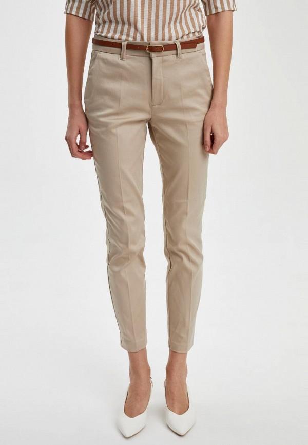 женские повседневные брюки defacto, бежевые