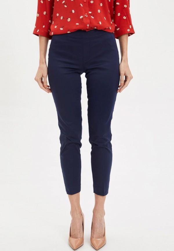 женские классические брюки defacto, синие