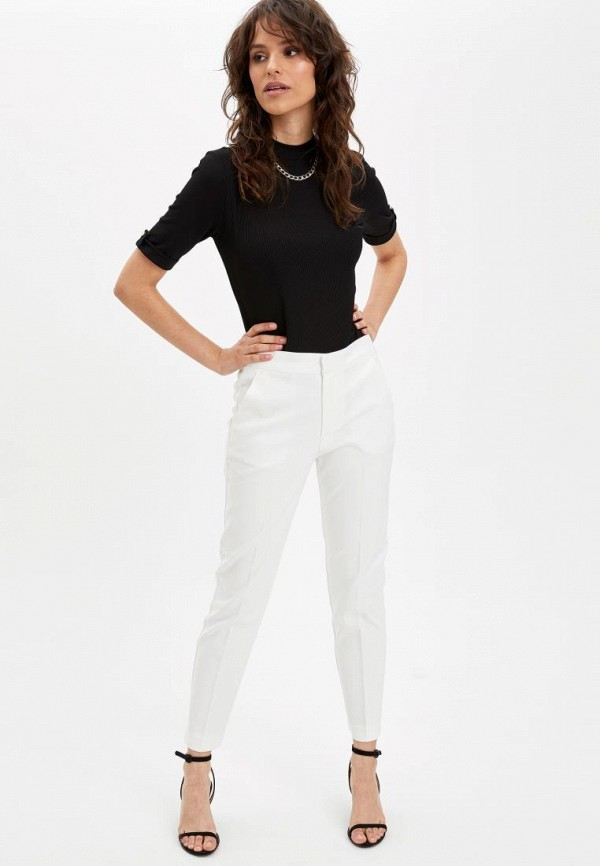 женские повседневные брюки defacto, белые
